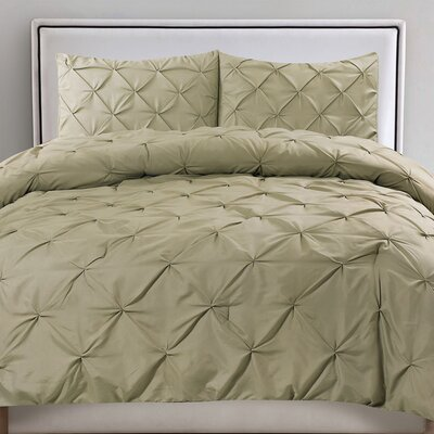 Tamra 3 Piece Comforter Set Color: Sage, Size: Full/Queen