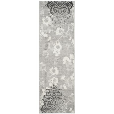 Frizzell Silver/Ivory Area Rug Rug Size: Rectangle 26 x 4