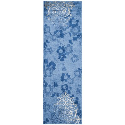 Frizzell Light Blue&Dark Blue Area Rug Rug Size: Runner 26 x 10