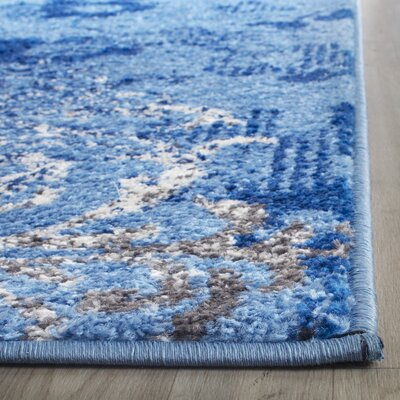 Norah Light Blue&Dark Blue Area Rug Rug Size: 6' x 9'