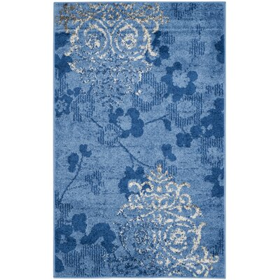 Frizzell Light Blue&Dark Blue Area Rug Rug Size: Rectangle 6 x 9