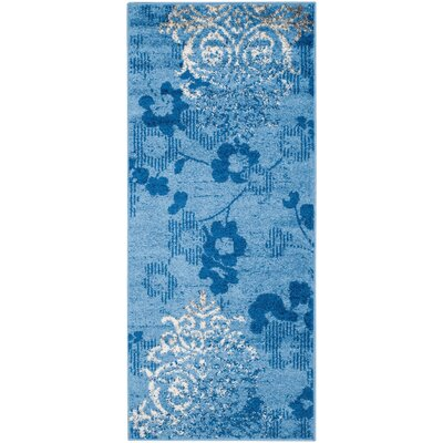 Frizzell Light Blue&Dark Blue Area Rug Rug Size: Runner 26 x 6