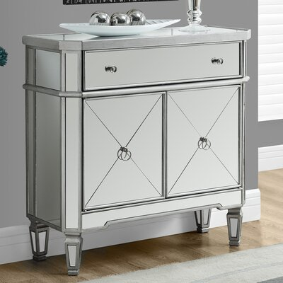 Marea End Table Finish: Brushed Silver