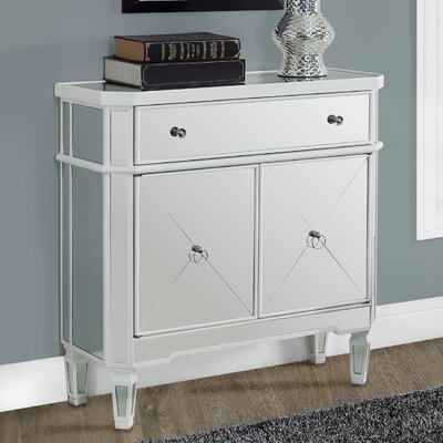 Marea End Table with Storage Color: Satin White