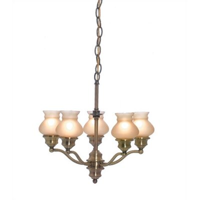 Shivani 5-Light Shaded Chandelier Finish: Antique Brass