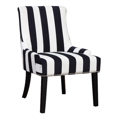 Aicha Stripe Wing back Chair