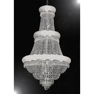 Montana 21-Light Empire Chandelier Finish: Silver