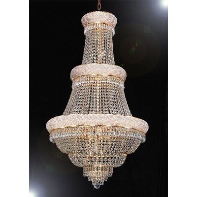 Montana 21-Light Crystal Chandelier Finish: Gold