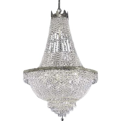 Dyann 9-Light Empire Chandelier Finish: Silver