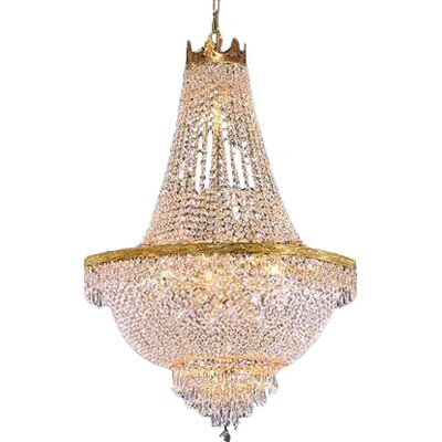 Dyann 9-Light LED Empire Chandelier Finish: Gold