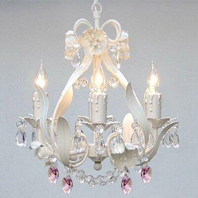Tobias 4-Light Crystal Hearts Chandelier