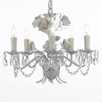 Tobias 5-Light Floral Crystal Chandelier