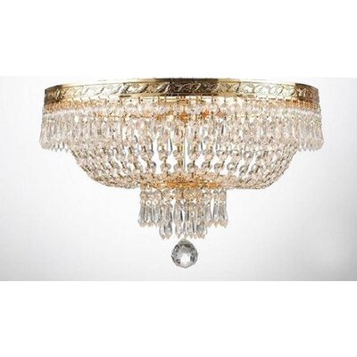 Dyann 4-Light Flush Mount Finish: Gold