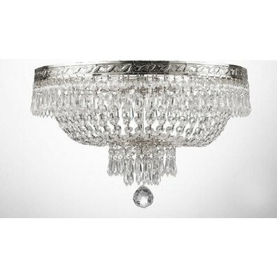 Dyann 4-Light Flush Mount Finish: Silver