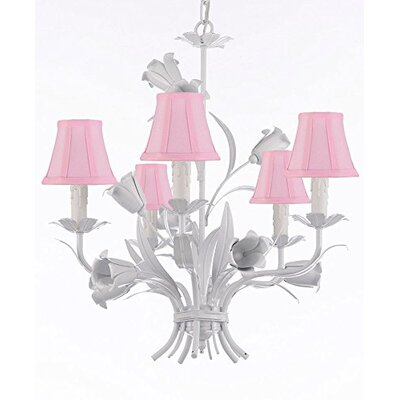 Tobias 5-Light Shaded Floral Chandelier
