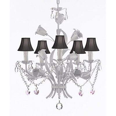 Tobias 5-Light Shaded Chandelier with Chain