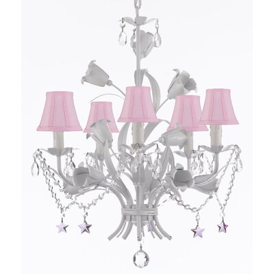 Tobias 5-Light Shaded Iron Chandelier