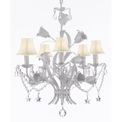 Tobias 5-Light Shaded Metal Chandelier