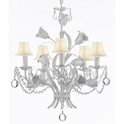 Tobias 5-Light Shaded Chandelier