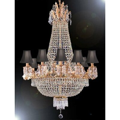 Montana 15-Light Crystal Chandelier Shade Color: Black