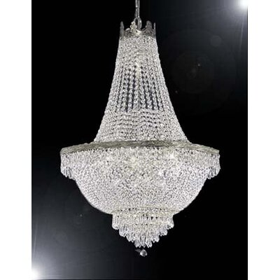Dyann 9-Light Crystal Empire Chandelier