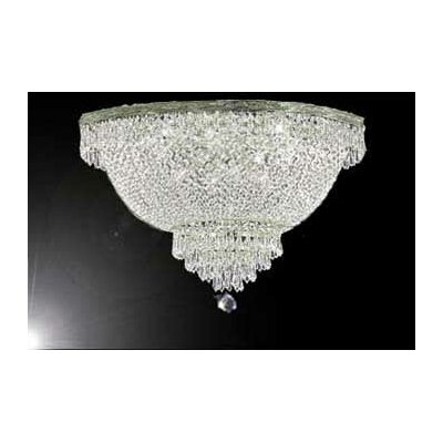 Montana 18-Light Flush Mount Size: 27 H x 44 W x 44 D