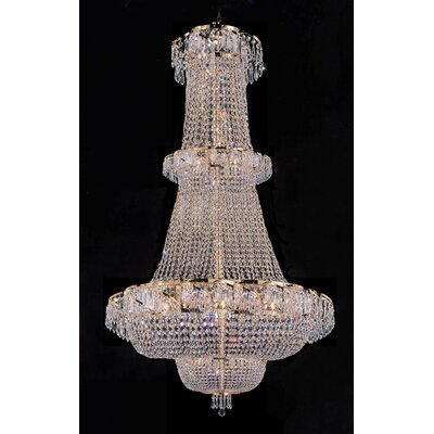 Montana 21-Light Crystal Chandelier Crystal Grade: Empress