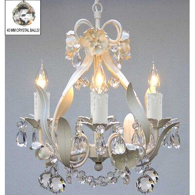 Tobias 4-Light Crystal Balls Chandelier