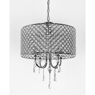 Aldgate 4-Light Crystal Chandelier