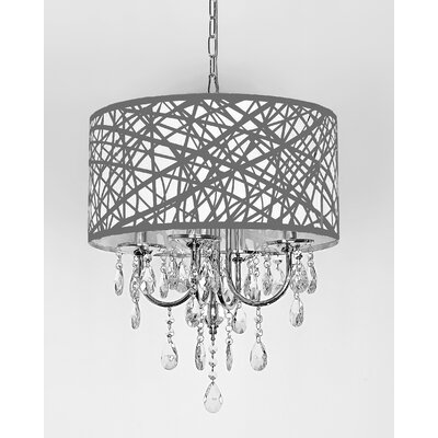 Alverez 4-Light Crystal Chandelier