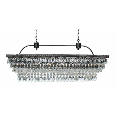 Dix 6-Light LED Crystal Chandelier Finish: Antique Silver