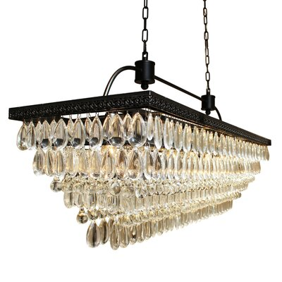 Ina 6-Light Crystal Chandelier Finish: Black