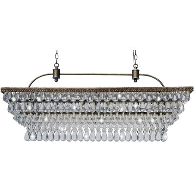 Dix 6-Light LED Crystal Chandelier Finish: Antique Copper