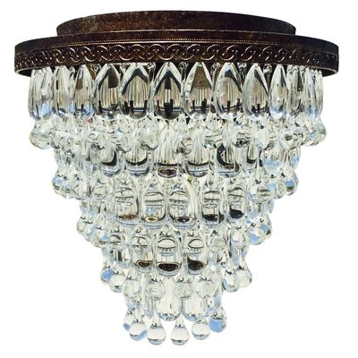 Dix 7-Light Crystal Flush Mount Finish: Antique Copper