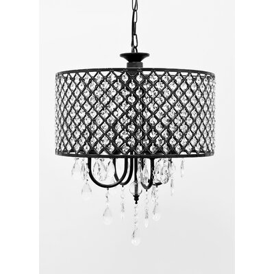 Gisselle 4-Light Crystal Chandelier