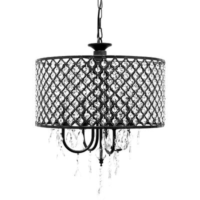Gisselle 4-Light LED Crystal Chandelier