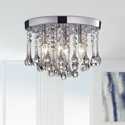 Alya 4-Light Flush Mount Finish: Chrome
