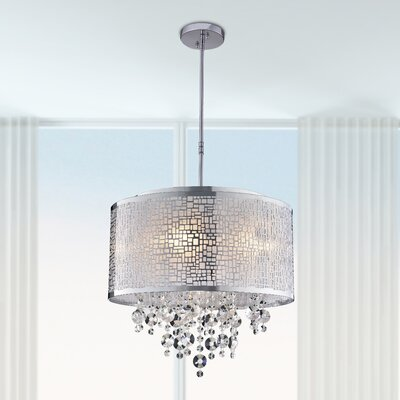 Aikin 4-Light Crystal Chandelier Finish: Chrome