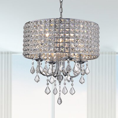 Albano 4-Light Crystal Chandelier Finish: Chrome
