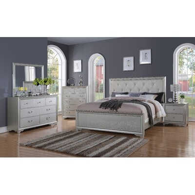 Rohan Panel 5 Piece Bedroom Set