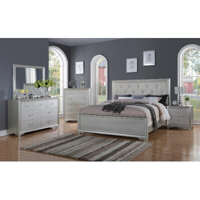 Rohan Queen Panel 4 Piece Bedroom Set