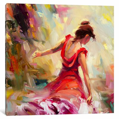Dancer Painting on Canvas Size: 18