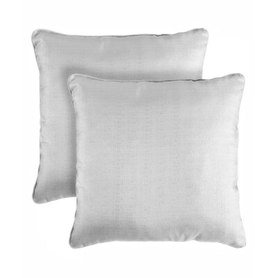 Tailynn Bling Shimmering Throw Pillow Color: Chambrey Grey