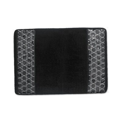 Tara Bath Rug Color: Black