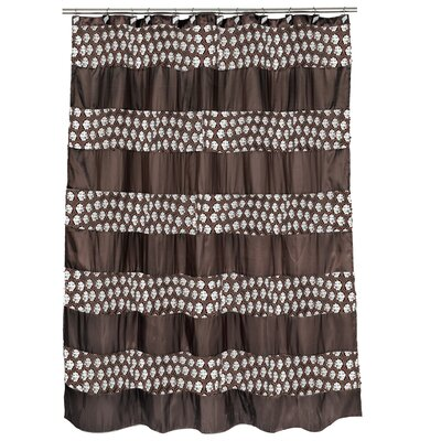 Rivet Striped Shower Curtain Color: Orb