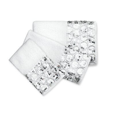 Rivet 3 Piece Towel Set Color: White
