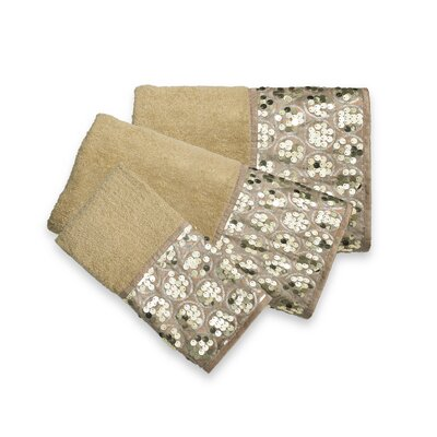 Rivet 3 Piece Towel Set Color: Champagne Gold