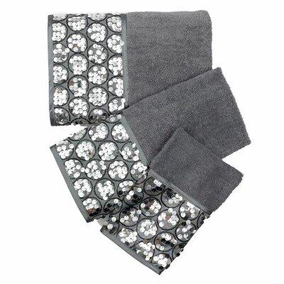 Tara 3 Piece Towel Set Color: Silver