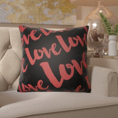 Bradford-on-Avon Indoor/Outdoor Throw Pillow Size: 18 H x 18 W x 4 D, Color: Red/Black