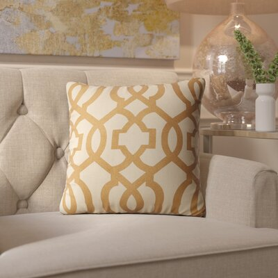 Arick Throw Pillow Color: Gold